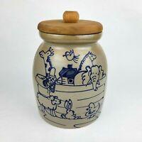 Beaumont Bros Pottery Saltglaze Noah's Ark Crock BBP 1997 Crooksville OH
