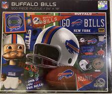 "NFL Buffalo Bills Football Retro Puzzle 500 Pieces 24"" x 18"" ~ NEW IN PLASTIC"