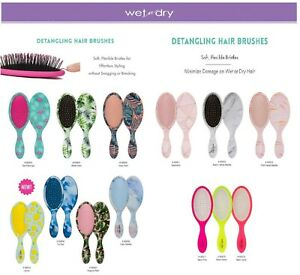 Cala Wet-N-Dry Detangling Hair Brush, New Prints and Colors