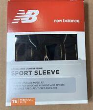 New Balance  Calf Compression Sport Sleeve Black / gold Technical Elite Medium