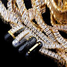 5pcs Crystal Zircon Glitter Alloy Chain Tips 3D Nail Art Manicure Decoration DIY