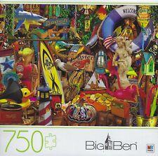 BIG BEN 750 PIECE JIGSAW PUZZLE 22061 BEACH ROAD PICKERS ~ 2020 HASBRO ~ NEW