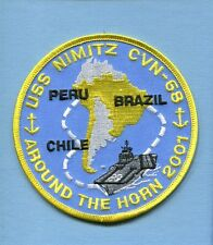 CVN-68 USS NIMITZ AROUND HORN 2001 US Navy Ship Squadron Cruise Jacket Patch