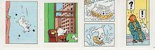 TINTIN ET MILOU LOT DE 4 SUPERBES VIGNETTES CONCOURS BUBBLE GUM AU MIEL  (11)
