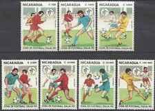 Timbres Sports Football Nicaragua 1523/9 ** lot 17751