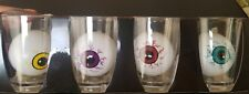 New Decorative Shot Glasses Set of 4 Bloodshot Eyeballs Beer Pong Halloween