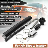 24mm Exhaust Silencer Filter Pipe 60MM VENT Ducting Kit For Eberspacher Heater