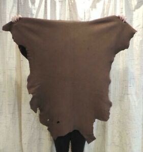 MAHOGANY DEERSKIN Leather Hide for Native Crafts Buckskin Clothing Taxidermy