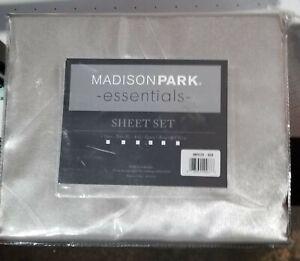 MadisonPark Essentials Satin Bed Sheet Set (queen size) (gray)