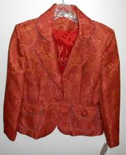Hanna & Gracie Tapestry Paisley Honey Blazer Jacket Womens Size 8 Petite New