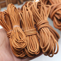 DIY Round Cow Real Leather Cord Lace Rope Weave String for Necklace Bracelet Bag