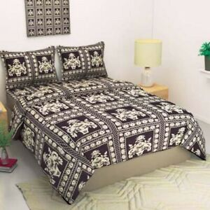 Polyester Double Bed Animal Printed Bed sheet  With Pillow Covers