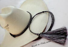 Ultimate Cowboy Hat Stampede Chin Strap String Brown Horsehair Sterling Beads