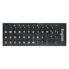 English QWERTY Replacement Keyboard Sticker with Big Letters O3Z8