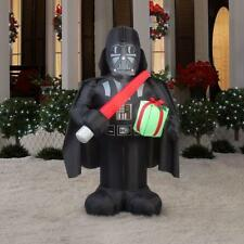 6 ft. Darth Vader with Light Saber and Present Christmas Inflatable