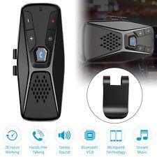 Bluetooth 5.0 Wireless Handsfree Car Auto Kit Speakerphone Phone Clip Speaker US