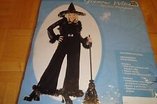 Glamour Witch Deluxe HALLOWEEN Costume with Hat * CHILD Medium 8-10 * Film-Stage