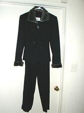 Albert Nipon Suit with Faux Fur Pant Suit Size 6P