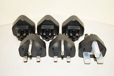 (Lot of 6) Linetek Type G United Kingdom Three Prong Power Adapter