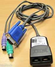IBM 26K4177 KVM 1.5 M Cable de conversión, VGA 2xPS/2 2xRJ45, FRU P/N: 32P1654