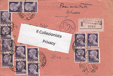 Repubblica Sociale Italiana Raccomandata da Montalcino Siena a Pisa 07-04-1945