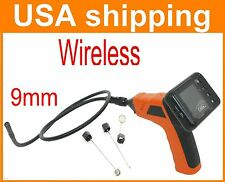 Wireless Inspection 9mm Camera Monitor 4 LEDs USA fast shipping NEW!!!