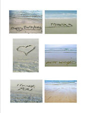 Greeting Cards Writing in Sand Fine Art Photography 6 Cards Free U.S. Shipping