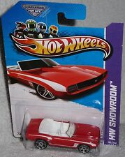 2013 Hot Wheels &#039;69 Chevy Camaro Convertible Hw Showroom Col. #197<