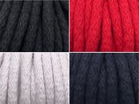 1m, 3m, 5m Kordel Baumwolle 8mm rund Schnur Turnbeutel  Seil 4 Farben