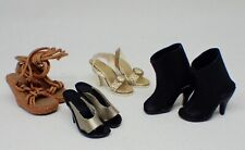 """Lot Vintage Mixed Barbie Type Doll, Boots High Heels, Shoes Sandals 1.25"""", 32mm"""
