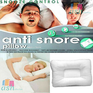 Luxury Anti Snore Snooze Control Head Neck Orthopedic Support Pillow AntiAllerge