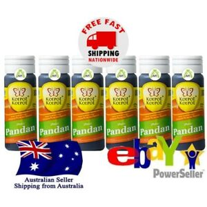 6x Butterfly Koepoe Pandan Essence 25ml Flavouring Coloring Baking Beverages