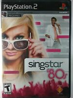 SingStar Pop 80's PS2 Sony PlayStation2 Music Games VGC