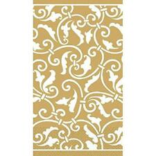 Ornamental Scroll Gold Wedding Anniversary Garden Party Napkins Guest Towels