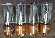 BEST QUAD 5R4GYA / 5R4G 5R4 DUAL RECTIFIER TUBES TUNGSOL BRANDED BLK PLATES NOS