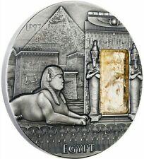2015 2 Oz Silver EGYPT Imperial Art Citrine Crystal Coin 2$ Niue..