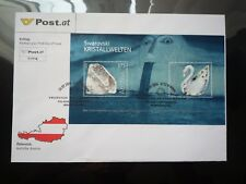 Swarovski Souvenir Miniature Stamp Sheet Austria First Day Cover 20.09.2004