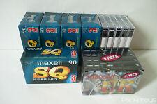 Lot de 25 Cassettes Audio Vierge K7 Maxell SQ Super quality - UR / 90mn