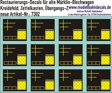 H0-Restaurierungs-Decals - Kreidefeld für Märklin-Güterwagen 087-7302 Top Neu!