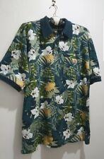 TOMMY BAHAMA Pure Cotton Short Sleeve Multi Colour Print Polo Shirt M *unworn *