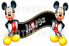 Mickey Mouse Clubhouse Room Decor -  Wall Decal Removable Sticker CUSTOM NAME