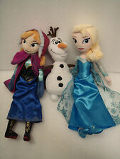 Disney Frozen Anna, Elsa and Olaf Soft Toys