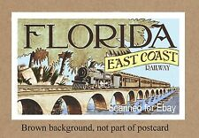 FL FLORIDA EAST COAST FEC RAILWAY ON BRIDGE TO KEY WEST  ART WORK