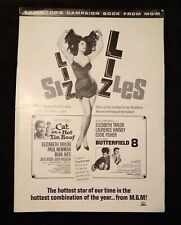 Cat on a Hot Tin Roof / Butterfield 8 MGM 1966 Dbl-Feature Pressbook Liz Taylor