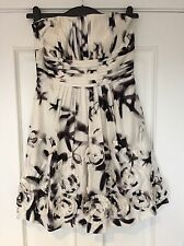 BCBG Maxazria Pretty Black And White Party Cocktail Dress US 8 UK 12 BNWT