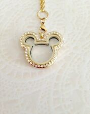 Memory Locket Stainless Mickey Inspired Gold