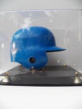 Baseball batting helmet acrylic display case 85% UV filtering two black base