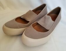 FitFlop Due Ladies Mary Jane Canvas Pumps in Mink, Size UK 4/ EU38