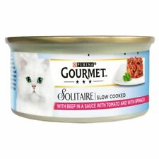 Gourmet Solitaire Beef & Tomato 24 Pack Cat Food - 85G