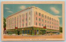 Postcard MI Battle Creek Michigan The Hart Hotel c1940s AF8